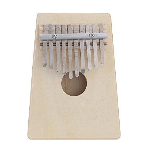Andoer® 10llave Mbira pino hueca de dedo pulgar Piano Música Educación Instrumento Musical de juguete para amante de la música y principiantes