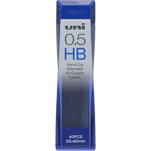 Uni Mechanical Pencil Lead, Nano Dia, 0.5mm, HB (U05202NDHB)