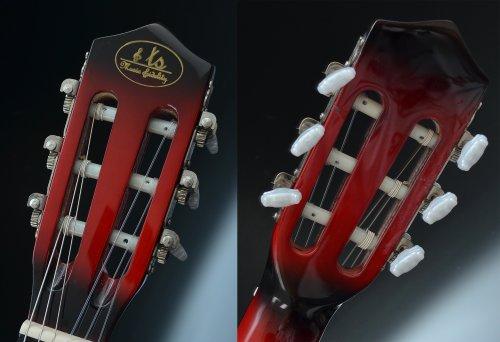 Ts-Ideen 5264 Akustik Gitarre Klassikgitarre Konzertgitarre mit Tasche, Gurt, Saiten und Plektrum rot/schwarz - 7