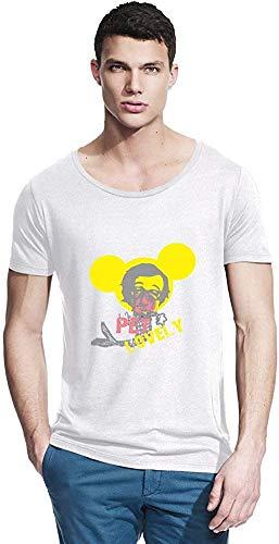 NR Zeus Micley muis heerlijk huisdier pop kunst bamboe brede hals T-Shirt