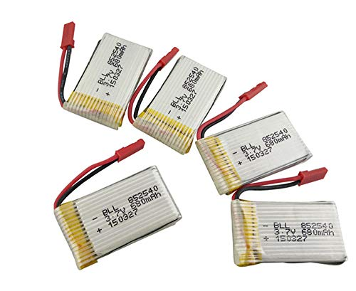 zjpvip218 Batería 5pcs 3.7V 680mAh LiPo Batería FY550 F550 MJX X400 X800 JXD 509G 509W Batería de Cuatro Ejes Batería Modelo DIY Batería