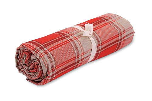 HomeLife - Scottish Sofa Throw - Multifunctioneel katoenen beddengoed Tartan Print - Granfoulard sprei voor eenpersoonsbed [160 x 280] en dubbel [260 x 280]- Made in Italy