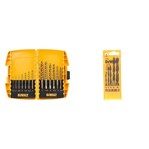 DeWalt DT7920B Extreme Drill Bit Set (13 Pieces) & DT4535QZ Brad Point Drill Bits Set (5 Pieces)
