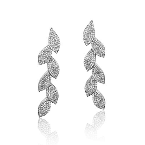 Bridal Leaf Drop Earrings $6.80 (60% OFF Coupon)