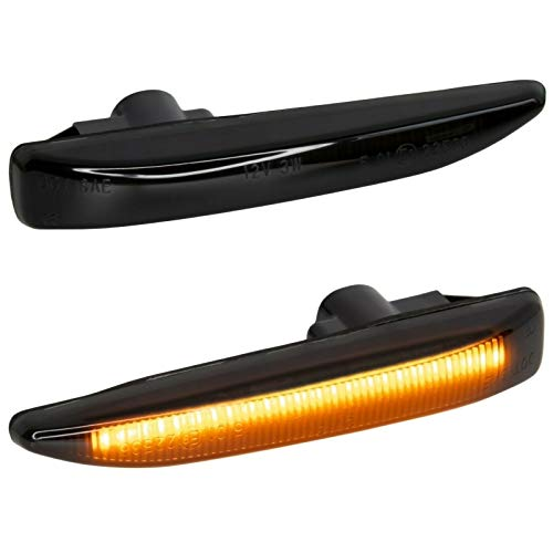 phil trade Intermitente Lateral LED Color Negro, Compatible con Serie 7 E65 E66, años 2001-2008 [7138-1]