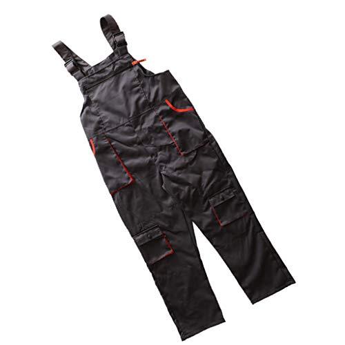 Unisex-Berufsbekleidung-Overall-Latzhose Mit Rundhalsausschnitt Hose XL - Grau