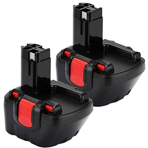 2X Batería de Repuesto 12V 3.0Ah Ni-MH para Bosch BAT043 BAT045 BAT120 BAT139 2607335542 2607335526 2607335274 2607335709 GSR 12-2 12VE-2 PSR 12 GSB 12VE-2 22612 23612 32612