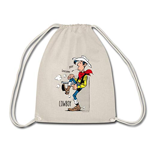 Spreadshirt Lucky Luke Poor Lonesome Cowboy Turnbeutel, Natur