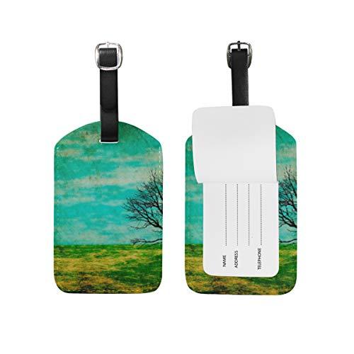 LORONA Scrapbooking Paper8 Etiquetas de equipaje Cuerdas Etiqueta de identificación de viaje para maleta Equipaje de mano, 1PC'
