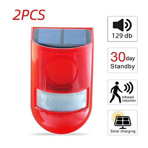 Luces estroboscópicas solares, IP65 Impermeable Sensor...