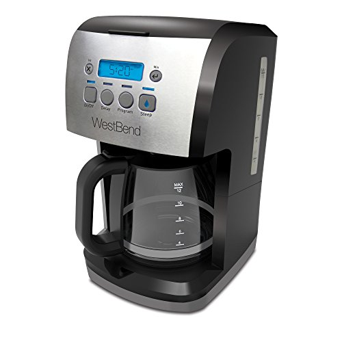 West Bend 56911 Steep & Brew Coffee Maker Features Programmable...