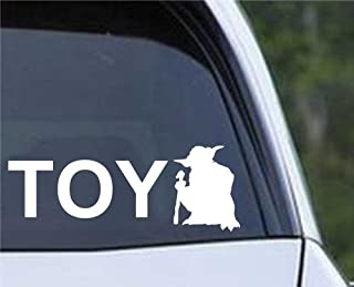 CCI Toyoda You and Yoda Decal Vinyl Sticker Cars Trucks Vans Walls Laptop White  5.5 x 2 in CCI415