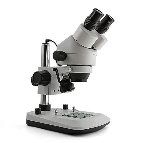 Microscopio de Zoom estéreo Binocular Profesional SWIFT S7-BL 7x-45x, oculares WH10x, iluminación LED Superior e Inferior, Placa de Escenario Reversible en Blanco y Negro (Enchufe UK)