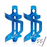 Chooee portabidon para Bicicleta, 2 Pares Lateral portabidones para MTB, Aluminio Portabidón Carretera Bici Azul