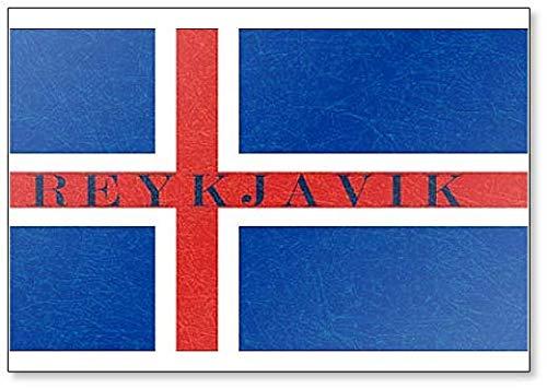 Kühlschrankmagnet Reykjavik mit Island-Flagge