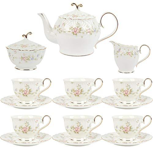 HRDZ Taza de café de Porcelana de Hueso pequeño Conjunto Exquisito Taza de té de cerámica de la Tarde