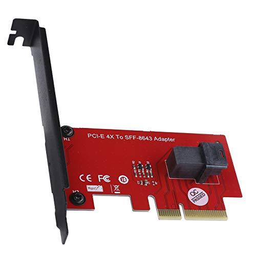 Cuifati Adaptador SFF-8643 a PCI-E 4X, Tarjeta adaptadora de Host PCI Express 4.0 x4, Adaptador PCI Express 4X, Compatible con Placas Base PCIe 4.0 y PCIe 3.0,