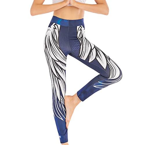 QTJY Pantalones de Yoga para Mujer, sin Costuras, de Cintura Alta, Levantamiento de Cadera, Leggings de Fitness, Ejercicio Push-up, Pantalones para Correr anticelulíticos A S