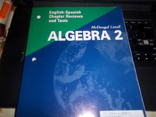 McDougal Littell High School Math Florida: English Spanish Chapter Reviews and Tests Algebra 2