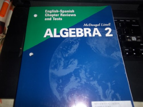 McDougal Littell High School Math Florida: English Spanish Chapter Reviews and Tests Algebra 2