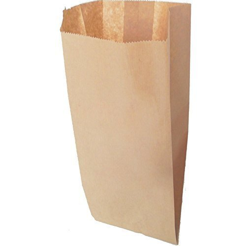IMBALLAGGI 2000-200 Sacchetti Alimenti in Carta Kraft Avana - Formato 17x34cm - Ideali per Confezionare Cibo e Pane - Confezione da 200 Pezzi