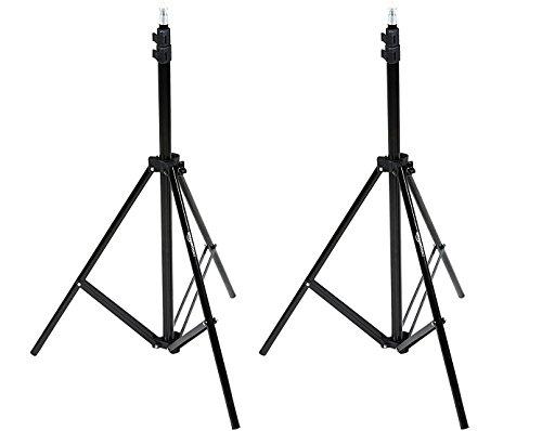 Amazon Basics - Kamera - Beleuchtungsstativ, Aluminium, 2,13 m, 2er-Pack