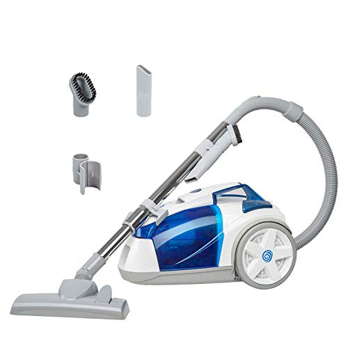 Great Deal! Vacmaster CC0101 Compact Bagless Canister Vacuum, White & Blue (Renewed)