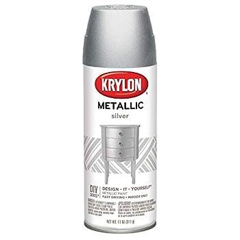Krylon K01406 Brilliant Aerosol 11-Ounce Silver Metallic Finish