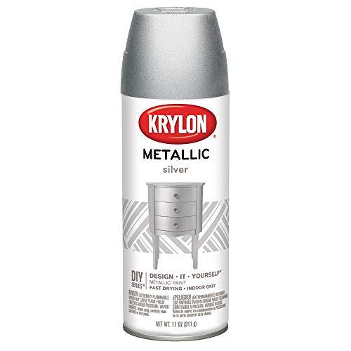 Krylon K01406 Brilliant Aerosol, 11-Ounce, Silver Metallic Finish