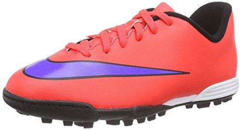 Nike Jr. Mercurial Vortex II TF, Unisex-Kinder Fußballschuhe, Rot (Bright Crimson/PRSN Violet-Blk), 33 EU