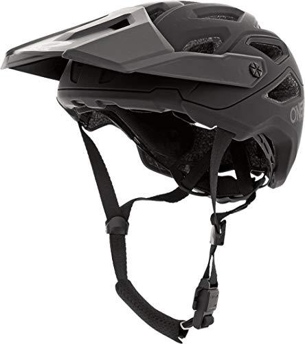 O\'NEAL | Mountainbike-Helm | Enduro Trail Downhill | Schweißabsorbierendes Innenfutter, erfüllt Sicherheitsnorm EN1078 | Helmet Pike Solid | Erwachsene | Schwarz Grau | Größe L/XL