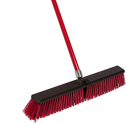 Tidy Tools Large 24'' Multi-Surface Push Broom with Alloy Handle