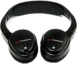 XO Vision IR620 Universal IR Infrared Wireless Foldable Headphones for In-Car TV, DVD, & Video Listening