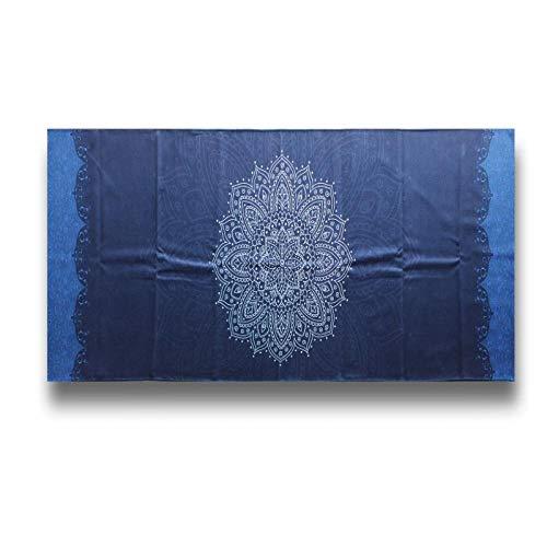 Estera de Yoga 185Cm * 65Cm Almohadilla Antideslizante para Toallas De Yoga Estilo Retro Meditación Gimnasio Ejercicio Portátil Cubierta para Colchone