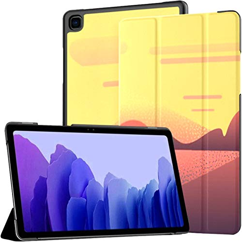 Case For Samsung Galaxy Tab A7 10.4 Inch Tablet 2020(sm-t500/t505/t507), Vector Illustration Girl Traveler Who Photographs Multiple Angle Stand Cover With Auto Wake/sleep
