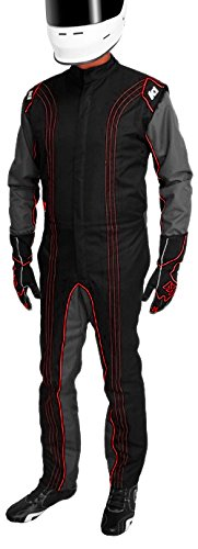 K1 Race Gear 10-GK2-R-LXL CIK/FIA Level 2 Approved Kart Racing Suit (Red, Large/X-Large)