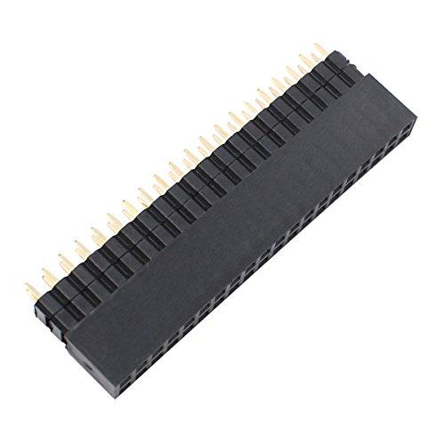 2x 20Pins Buchse 0,3cm Pitch GPIO Header für Raspberry Pi A + PI Modell B + PI 2PI 3(5Stück)