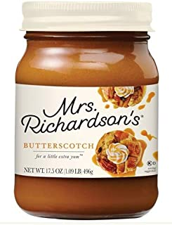 Mrs. Richardson's Butterscotch Topping, 17.5 oz (Pack of 6)