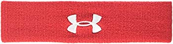 Under Armour Men s Performance Headband  Red  600 /White  One Size Fits All