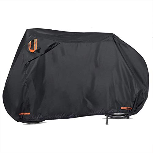 Femuar Bike Cover, Outdoor Waterproof Bicycle Cover Large Size Fit Mountain Road Bikes and Most Bikes, UV Protection Bike Covers with Lock Holes (78in)