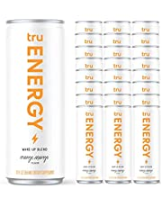 Tru Energy Drink - Natural Energy Seltzers - Wake Up Blend - 12oz Seltzer Cans
