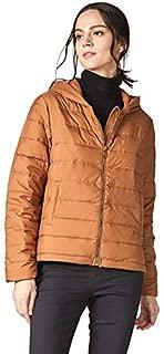 Escalier Women's Short Hooded Down Jacket Lightweight Waterproof Puffer Coats