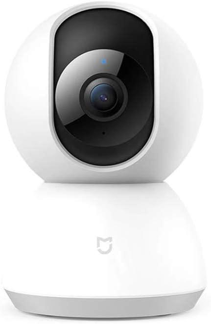 Camaras De Vigilancia Mijia Smart IP Camera 360 Grados 1080P Yuntai Versión Actualizada Conexión WiFi Seguridad Inteligente para Mi Home App Blanco