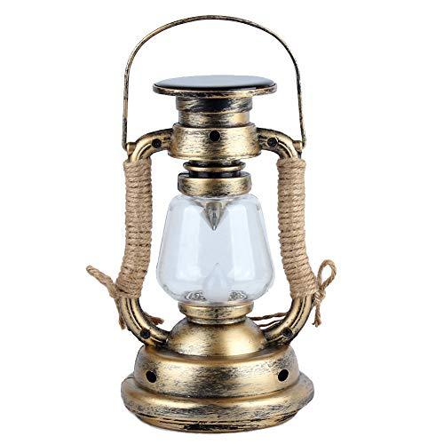 Solar Vintage Kerze Laterne, Kreative Retro Antik Stil LED Öllampe, Licht Induktion Warmweiß Sturmlampe mit Griff für Innen & Außen, Garten Baum Tisch Lesen Camping