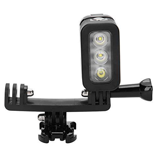 Asixxsix Tres Modos de luz de Relleno de Buceo portátil Liviana a Prueba de Agua, Fuerte estanqueidad Luz LED de Buceo, para Buceo Cámara Deportiva Transmisión en Vivo Hero 4