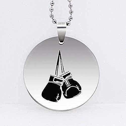 NC188 Collar Guantes de Boxeo Colgante Neckalce para Hombres Joyería de Acero Inoxidable grabada a la Moda Collar Largo Envío de la Gota para Mujeres Hombres Regalo