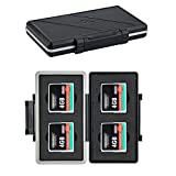 4 Slots CF Card Holder, Water-Resistance Anti-Shock Compact Flash Card Case Storage for Canon 400D 350D 50D 40D 30D 7D Mark II 7D 5DS R 5D Mark IV III II 1D Mark II Nikon D810 D800