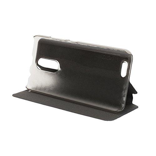 Oukitel C8 Case Hülle 2 in 1 Flip Hülle Handysocken Schutzhülle Standfunktion Tasche & - Beschützer Smartphone (Schwarz)