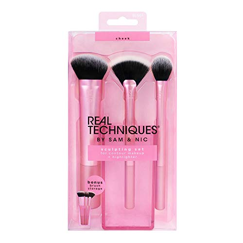 Price comparison product image Real Techniques Cruelty Free Sculpting Set,  Includes: Sculpting Brush,  Fan Brush,  Setting Brush & Brush Cup,  Synthetic Bristles