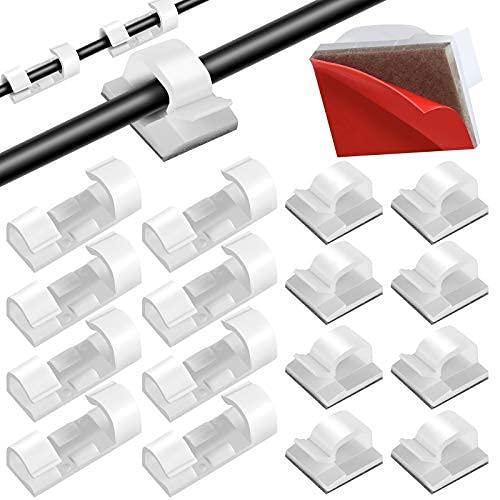 100 clips de cable para exteriores con fuertes ganchos autoadhesivos, clips de luz, soporte de alambre, gestión de cables para..